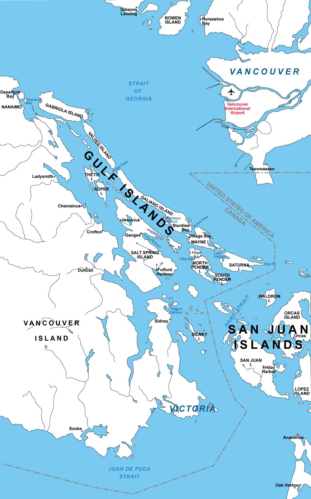 Gulf Islands Map 2